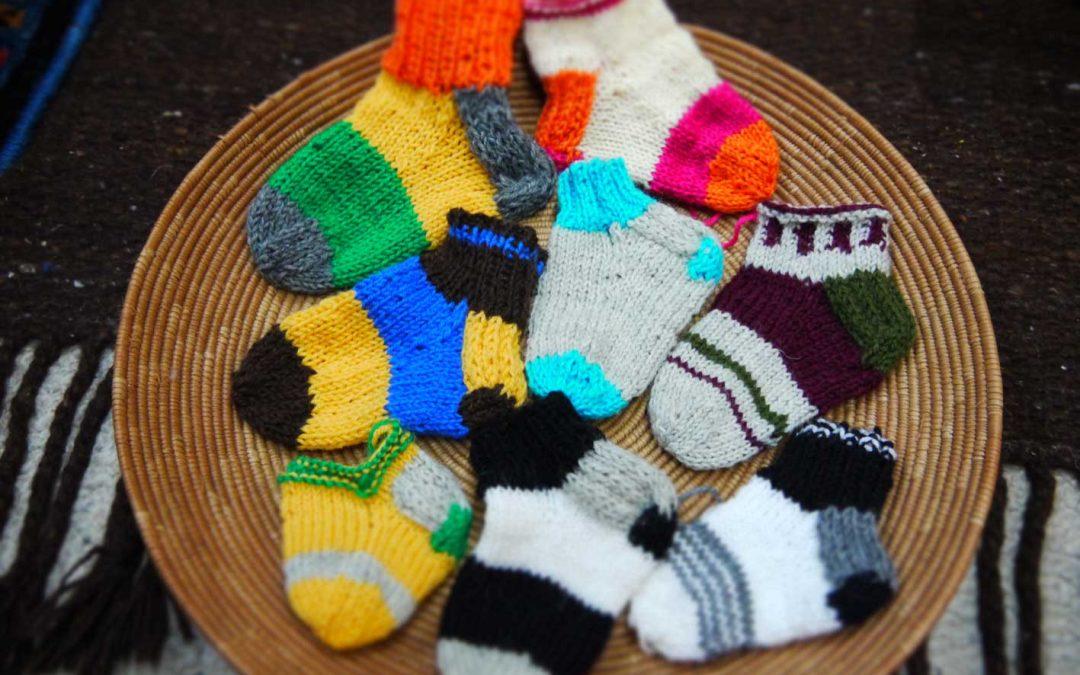フィンランドの毛糸の靴下 ワークショップ1