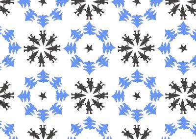 pattern works portfolio_Tonttu ornamentti