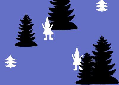Tonttu metsässä